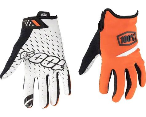 100% Ridecamp Men's Full Finger Glove (Orange) (S)