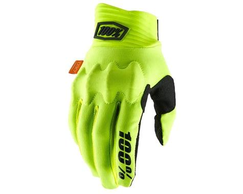 100% Cognito D30 Full Finger Gloves (Fluo Yellow/Black) (M)