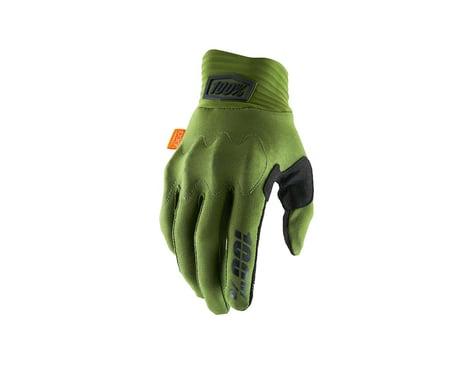100% Cognito D30 Full Finger Gloves (Army Green/Black) (L)