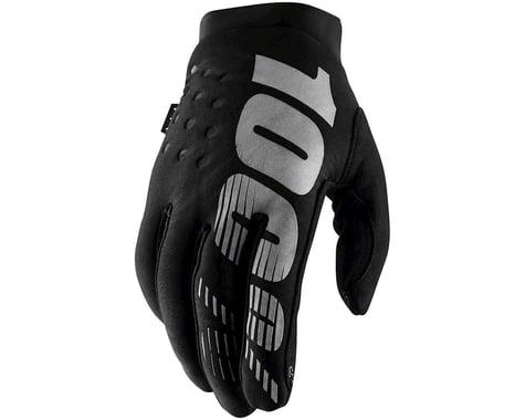 100% Brisker Gloves (Black) (L)