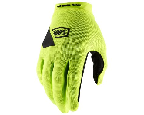 100% Ridecamp Gloves (Fluo Yellow) (S)