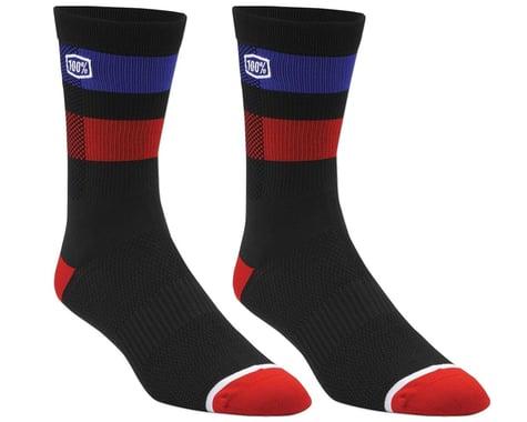 100% Flow Socks (Black) (L/XL)