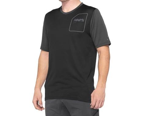 100% Ridecamp Men's Short Sleeve Jersey (Charcoal/Black) (XL)