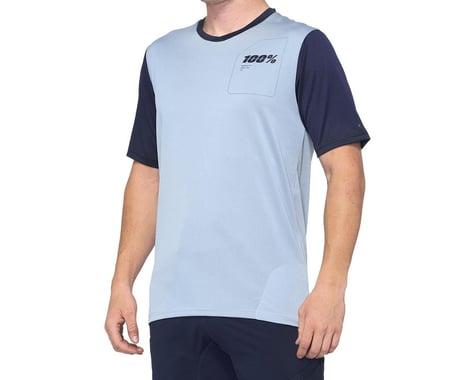 100% Ridecamp Men's Short Sleeve Jersey (Light Slate/Navy) (M)