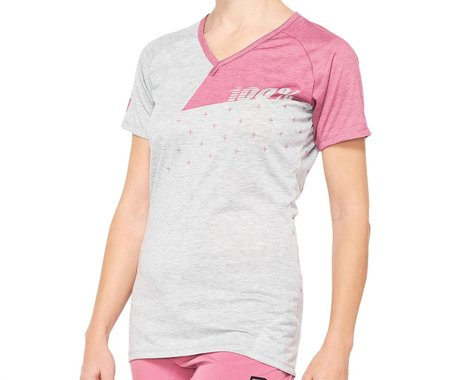 100% Women's Airmatic Jersey (Pink) (L)