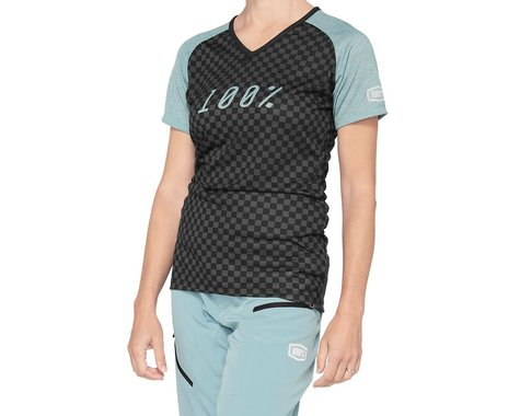 100% Women's Airmatic Jersey (Seafoam Checkers) (S)