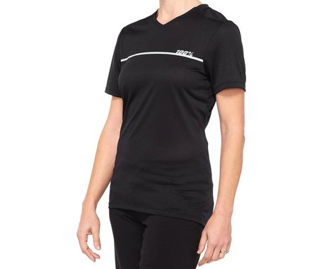 100% Women's Ridecamp Jersey (Black) (S)