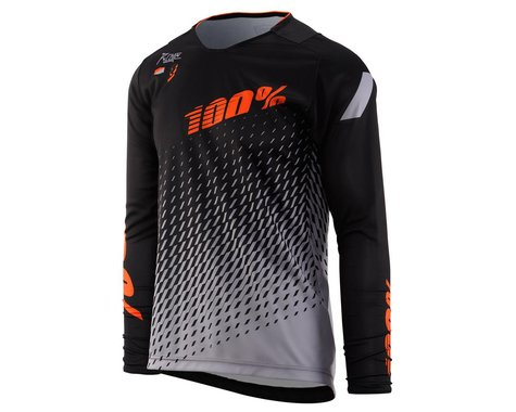 100% R-Core Youth Jersey (Black) (Youth S)
