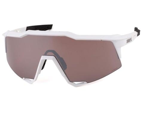 100% SpeedCraft Sunglasses (Matte White) (HiPER Silver Mirror Lens)