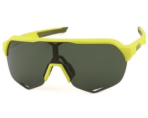100% S2 Sunglasses (Soft Tact Banana) (Grey Green Lens)