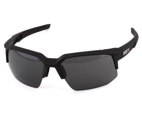 100% Speedcoupe Sunglasses (Soft Tact Black) (Smoke Lens)