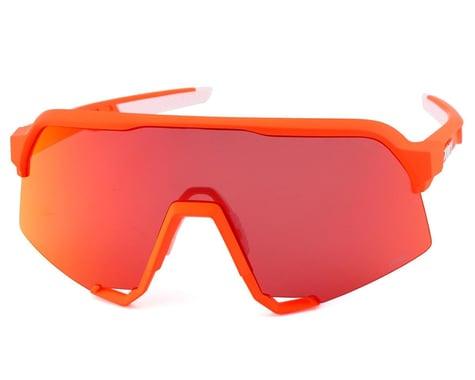 100% S3 Sunglasses (Soft Tact Neon Orange)