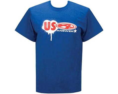 Answer USA T-Shirt (Blue) (M)