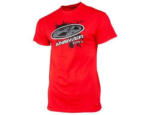 Answer Short Sleeve T-Shirt (Red) (S)