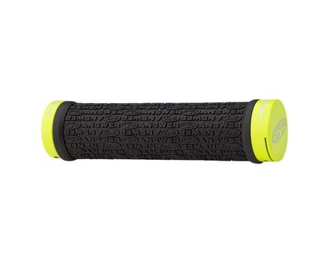 Answer Flangeless Lock-on Grips (Black/Flo Yellow) (Pair) (135mm)