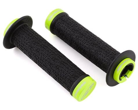 Answer Flange Lock-On Grips (Black/Flo Yellow) (Pair) (135mm)