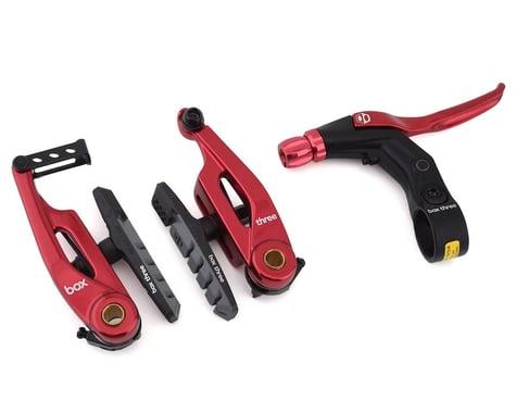Box Brake Caliper Box Three V W/Lever (Red) (85mm)