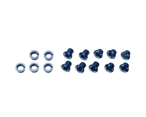 Box Components Spiral 7075 Alloy Chainring Bolt Kit (Blue) (15)