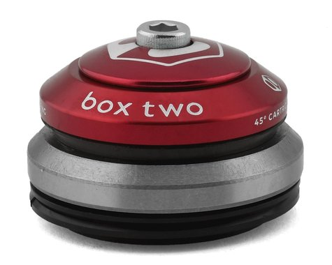 """Box Two Sealed Tapered Integrated Headset (Red) (1-1/8 to 1.5"""")"""