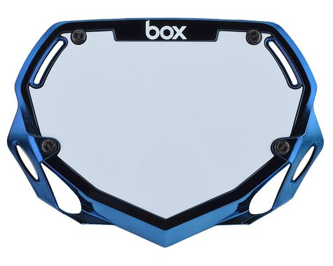 Box Two Number Plate (Blue Chrome) (S)