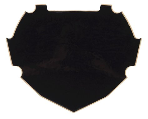 Box Number Plate Decal (Black) (L)