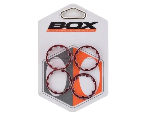"Box One Stem Spacer Kit (Red) (5) (1-1/8"")"