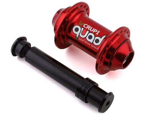 Crupi Quad Front Hub (Red) (36H) (20mm)