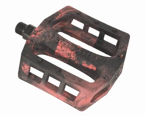 "Demolition Trooper Plastic Pedals (Black/Red Swirl) (Pair) (9/16"")"