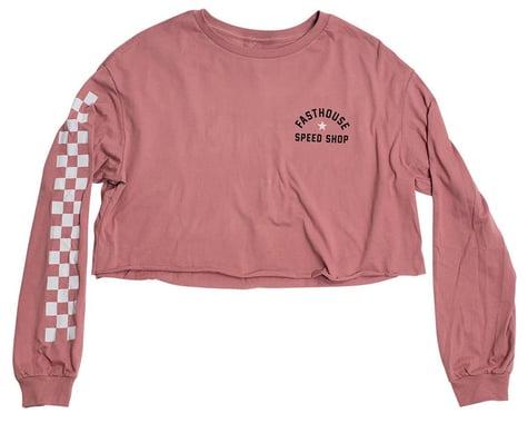 Fasthouse Inc. Star Long Sleeve Women's Crop Tee (Heather Mauve) (S)