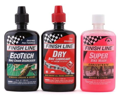 Finish Line Bike Care Value Pack (Dry Chain Lube, EcoTech Degreaser, Super Bike Wash)
