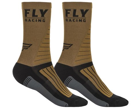 Fly Racing Factory Rider Socks (Khaki/Black/Grey) (S/M)