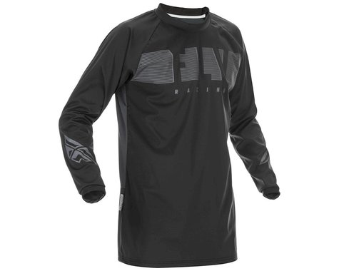 Fly Racing Windproof Jersey (Black/Grey) (XL)