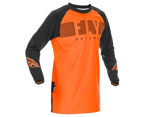 Fly Racing Windproof Jersey (Orange/Black) (S)