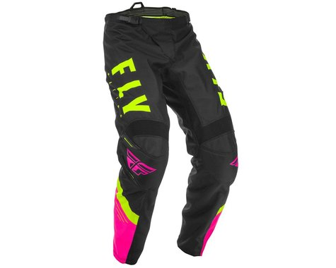 Fly Racing Youth F-16 Pants (Neon Pink/Black/Hi-Vis) (28 Short)