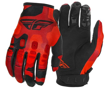 Fly Racing Kinetic K220 Gloves (Red/Black) (Youth L)