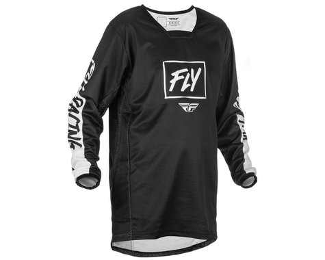 Fly Racing Youth Kinetic Rebel Jersey (Black/White) (Youth S)
