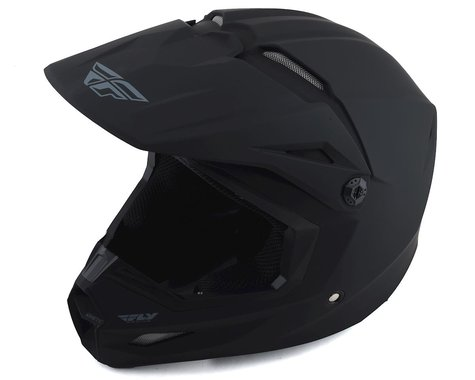 Fly Racing Kinetic Solid Helmet (Matte Black) (S)