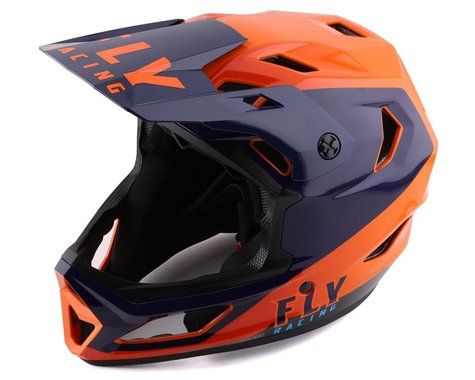 Fly Racing Rayce Helmet (Navy/Orange/Red) (XS)