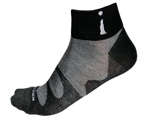 Incrediwear PRO-3 Down Low Thin Sports Socks (Black) (S)
