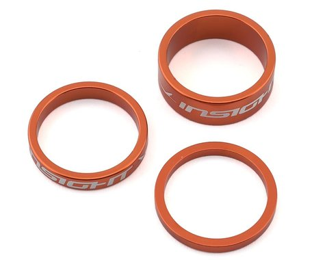 """INSIGHT Alloy Headset Spacers (Orange) (3mm/5mm/10mm) (1"""")"""