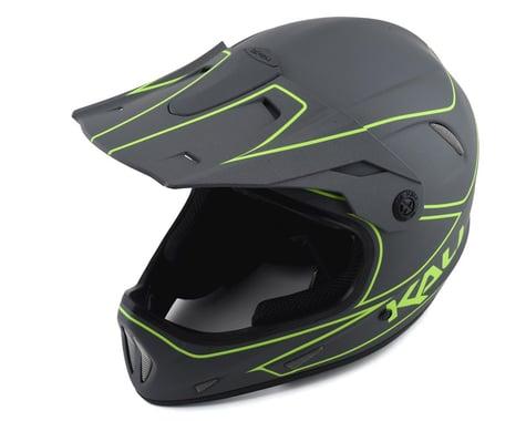 Kali Alpine Rage Full Face Helmet (Matte Grey/Fluorescent Yellow) (XS)