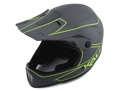 Kali Alpine Rage Full Face Helmet (Matte Grey/Fluorescent Yellow) (S)