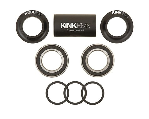 Kink Mid Bottom Bracket Kit (Matte Black) (22mm)