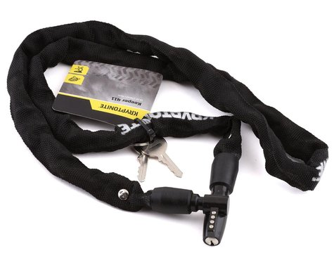 Kryptonite Keeper 411 Chain Lock w/ Key (Black) (4 x 110cm)