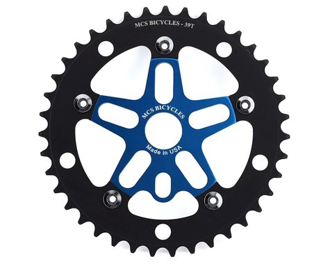 MCS Alloy Spider & Chainring Combo (Blue/Black) (39T)