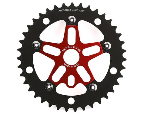 MCS Alloy Spider & Chainring Combo (Red/Black) (39T)