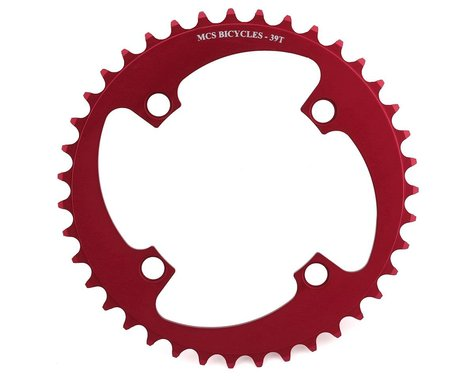 MCS 4-Bolt Chainring (Red) (39T)