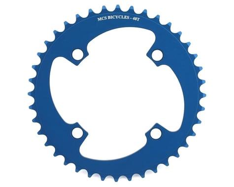 MCS 4-Bolt Chainring (Blue) (40T)