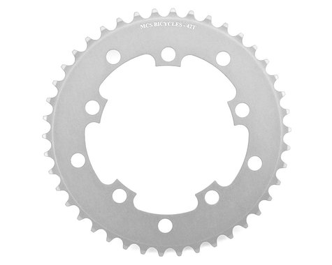 MCS 5-Bolt Chainring (Silver) (42T)