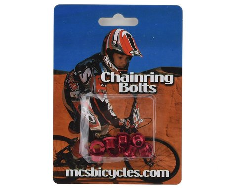 MCS Alloy Chainring Bolts (Red)